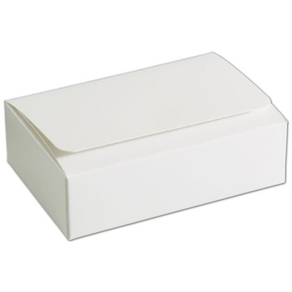 White 6-Truffle Confectionery Boxes, 4 7/16x3 1/16x1 5/16""