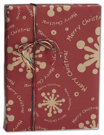 Christmas Gale Kraft Gift Wrap, 30