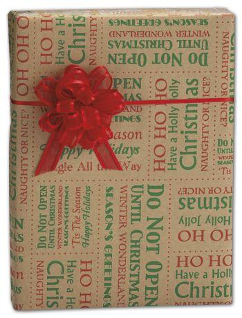 Tis the Season Kraft Gift Wrap, 30