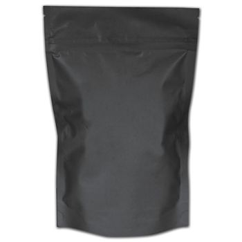 "Black Resealable 1 oz. Cannabis Bags, 6 1/4x10""+2 1/2"" BG"