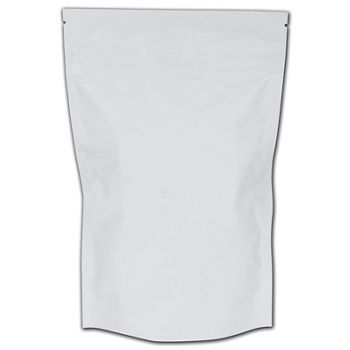 White Reclosable 1 oz. Cannabis Bags, 6 1/4x10