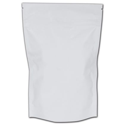 "White Reclosable 1 oz. Cannabis Bags, 6 1/4x10""+2 1/2"" BG"