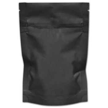 "Black Resealable 1/8 oz. Cannabis Bags, 4 x 6"" + 1 1/2"" BG"