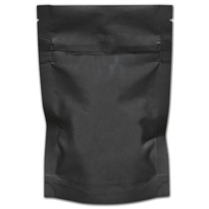 """Black Reclosable 1/8 oz. Cannabis Bags, 4 x 6"""" + 1 1/2"""" BG"""