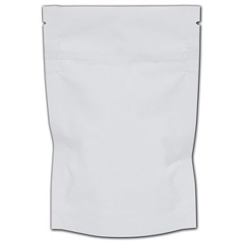White Reclosable 1/8 oz. Cannabis Bags, 4 x 6