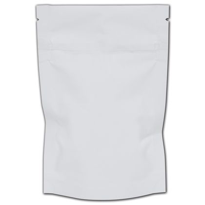 "White Resealable 1/8 oz. Cannabis Bags, 4 x 6"" + 1 1/2"" BG"