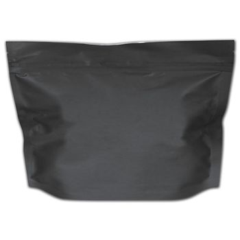 "Black Large Exit Cannabis Bags, 12 x 9"" + 4"" BG"