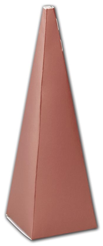 Metallic Rose Gold Cone Favor Boxes, 2 x 2 x 6 1/2