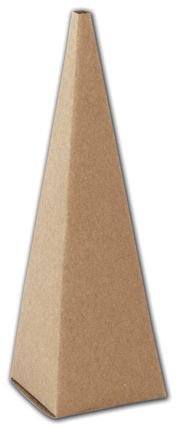 Kraft Cone Favor Boxes, 2 x 2 x 6 1/2