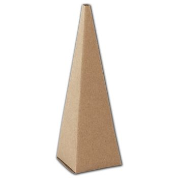 Kraft Cone Favor Boxes, 2 x 2 x 6 1/2