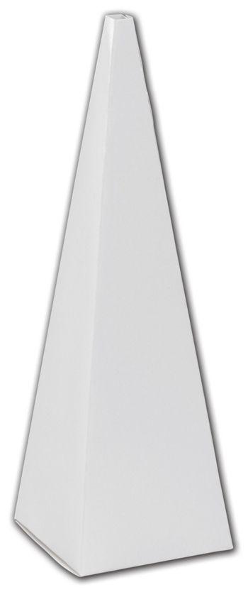 White Cone Favor Boxes, 2 x 2 x 6 1/2