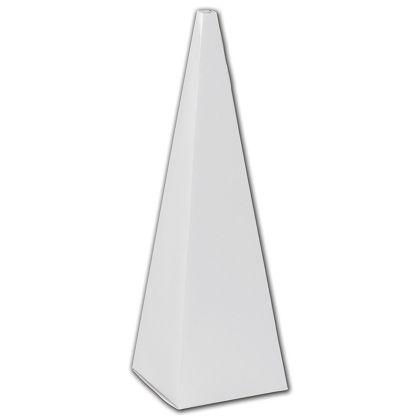 """White Cone Favor Boxes, 2 x 2 x 6 1/2"""""""