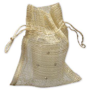 Natural Jute Bags, 4 1/2 x 5 1/2