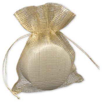 Natural Jute Bags, 5 x 6 1/2