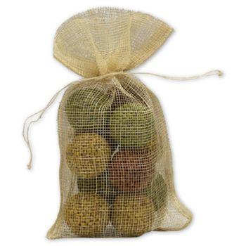 Natural Jute Bags, 5 1/2 x 9