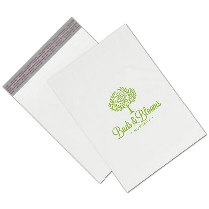 White Custom Printed Poly Mailers, 10 x 13""