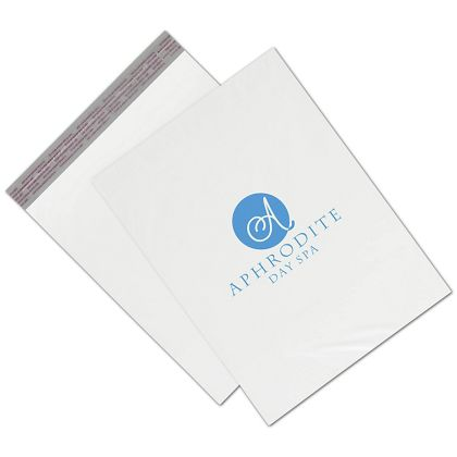White Custom Printed Poly Mailers, 12 x 15""
