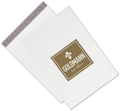 White Custom Printed Poly Mailers, 14 x 19""