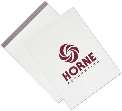 White Custom Printed Poly Mailers, 19 x 24""