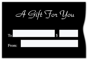 Black Gift Card Sleeves, 6 1/2 x 4