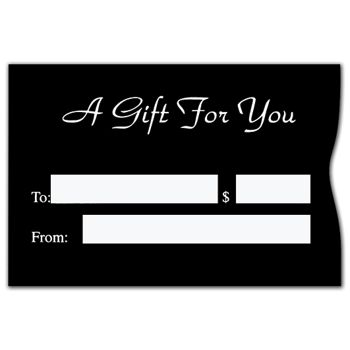 Black Gift Card Sleeves, 3 3/8 x 2 1/4""