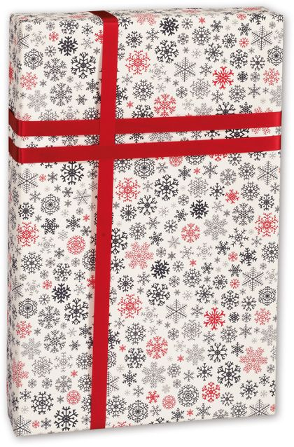 "Snow Flurry Gift Wrap, 30"" x 100'"