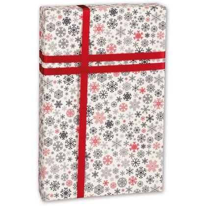 "Snow Flurry Gift Wrap, 30"" x 100'"