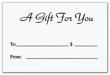 White Gift Card Sleeves, 6 1/2 x 4