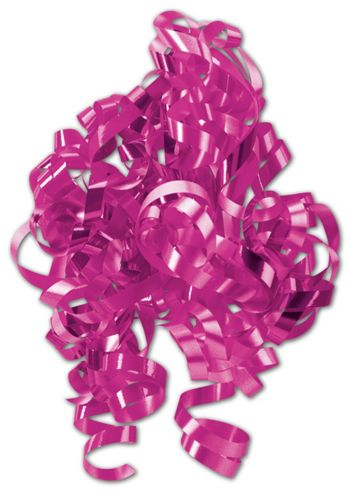 Hot Pink Curly Bows, 1/4