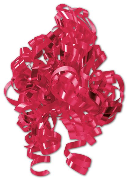 "Red Curly Bows, 1/4"" Wide x 36"" Long, 12 Strands"