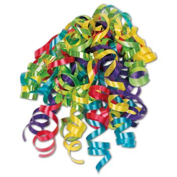 "Splash Curly Bows, 1/4"" Wide x 36"" Long, 12 Strands"