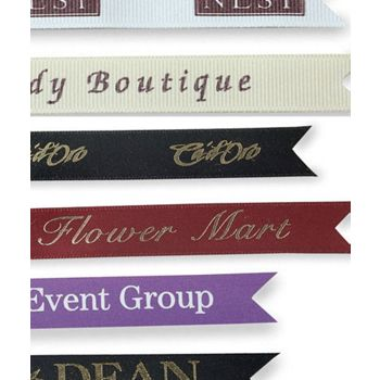Silkscreen Grosgrain Ribbon, 5/8