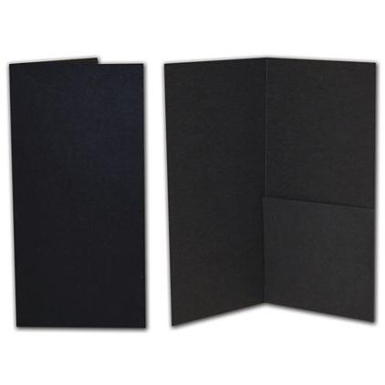 "Black Kraft Designer Folders, 4 1/2 x 9"""