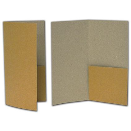 "Kraft Designer Folders, 4 1/2 x 9"""