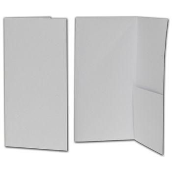 """White Kraft Designer Folders, 4 1/2 x 9"""""""