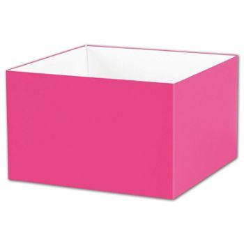 Fuchsia Gift Box Bases, 8 x 8 x 5