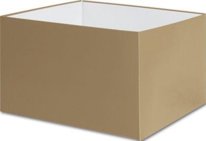 "Gold Gift Box Bases, 8 x 8 x 5"""