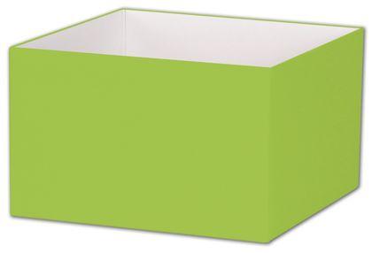"Lime Green Gift Box Bases, 8 x 8 x 5"""