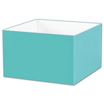 Robin's Egg Blue Gift Box Bases, 8 x 8 x 5