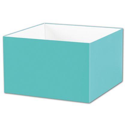 "Robin's Egg Blue Gift Box Bases, 8 x 8 x 5"""