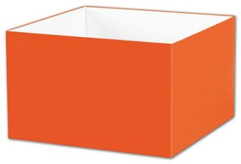 Orange Gift Box Bases, 8 x 8 x 5
