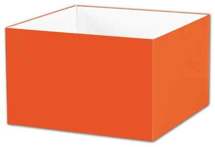 "Orange Gift Box Bases, 8 x 8 x 5"""