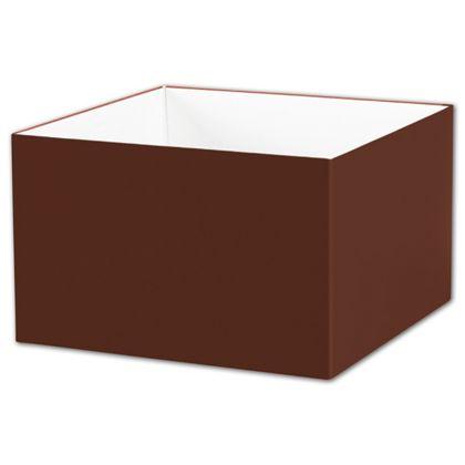 "Chocolate Gift Box Bases, 8 x 8 x 5"""