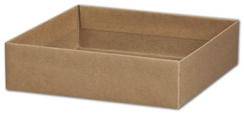 Kraft Gift Box Bases, 8 x 8 x 2 1/8