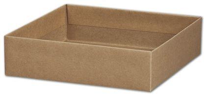 "Kraft Gift Box Bases, 8 x 8 x 2 1/8"""