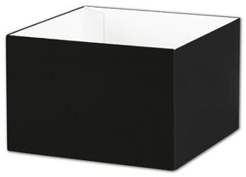 Black Gift Box Bases, 6 x 6 x 4