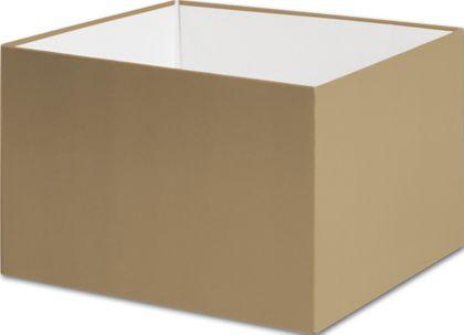 "Gold Gift Box Bases, 6 x 6 x 4"""