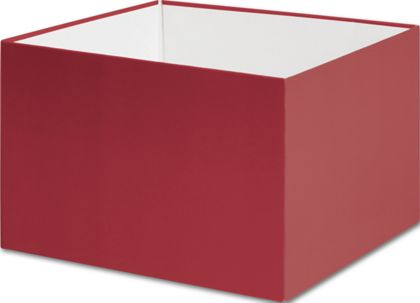 """Red Gift Box Bases, 6 x 6 x 4"""""""