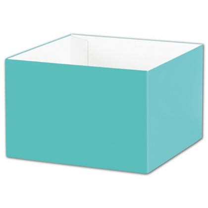 "Robin's Egg Blue Gift Box Bases, 6 x 6 x 4"""