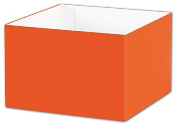 Orange Gift Box Bases, 6 x 6 x 4